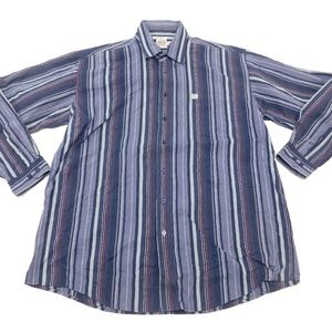 CINCH XL Blue Button Down Shirt  Cotton